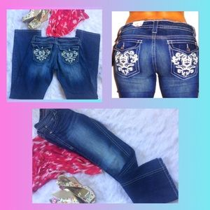 Ana Boot Cut Jeans Embellished button pockets